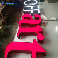 Chrome frontlit led advertising signage sign lighted channel letters