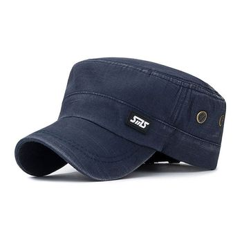 flat peaked cap ncaa fitted hat