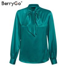 BerryGo, прозрачная, сексуальная, в горошек, женская блузка, рубашка, винтажная, с завязками, для офиса, одежда, весна, блузка, шикарный, с длинным ...(Китай)