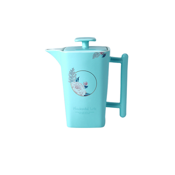 rose deca light blue coffee 1250ml ceramic porcelain tea sets with tea pot