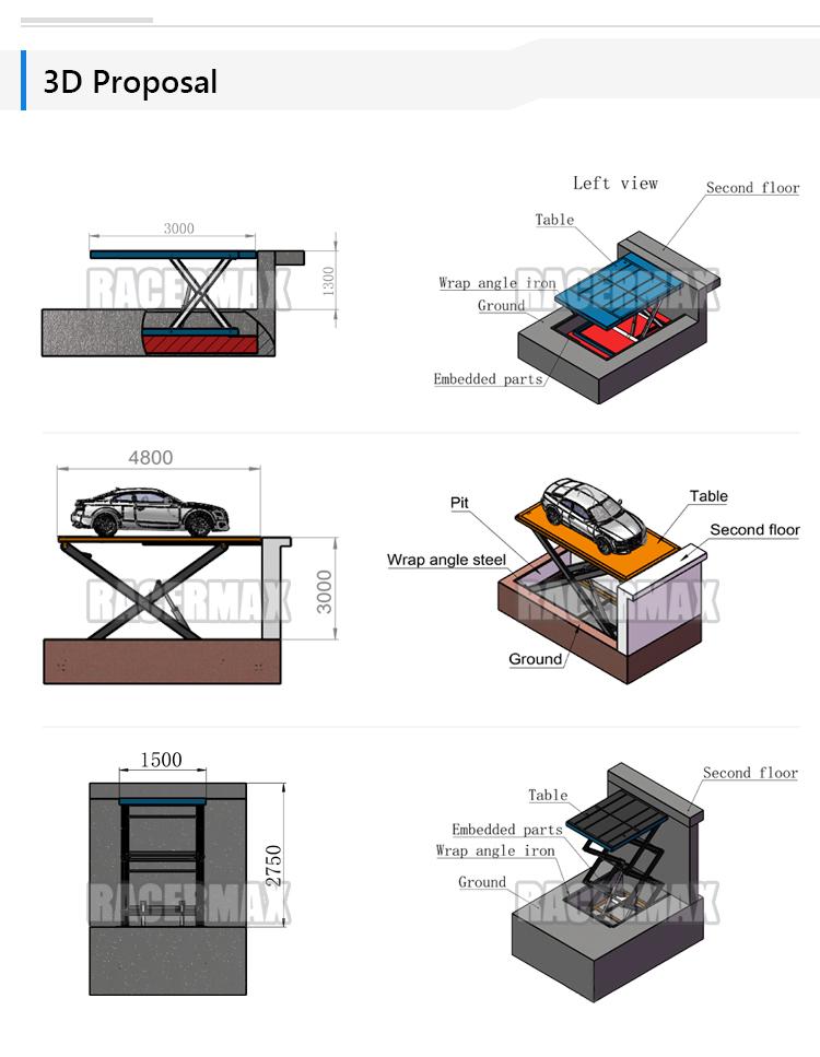 Stationary Fixed Manual Scissor Lifter Elevator Platform Lift Table electric hydraulic Car Scissor Lift