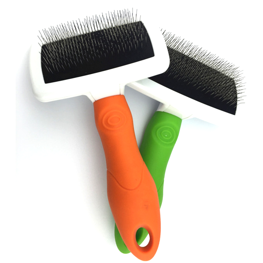 TGP06 Self Cleaning Brush Gently Removes Loose Undercoat, Mats and Tangled Hair - Your Dog or Cat Will Love Being Brush