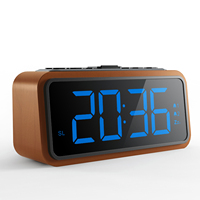 Good Quality Portable Mini FM Radio Alarm Clock with USB Charger