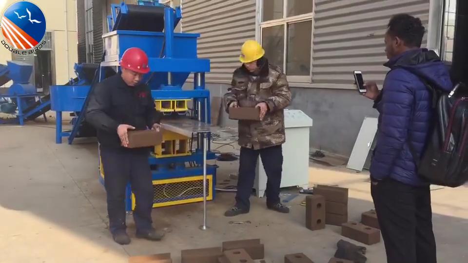 china automatic clay interlocking brick making machine  for sale