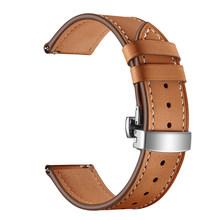 20 мм 22 мм Мужские/Женские ремешки кожаный ремешок для Samsung Galaxy Watch Active 2 браслет для S3/S2 Galaxy Watch 46 мм 42 мм Ремешки для наручных часов(Китай)