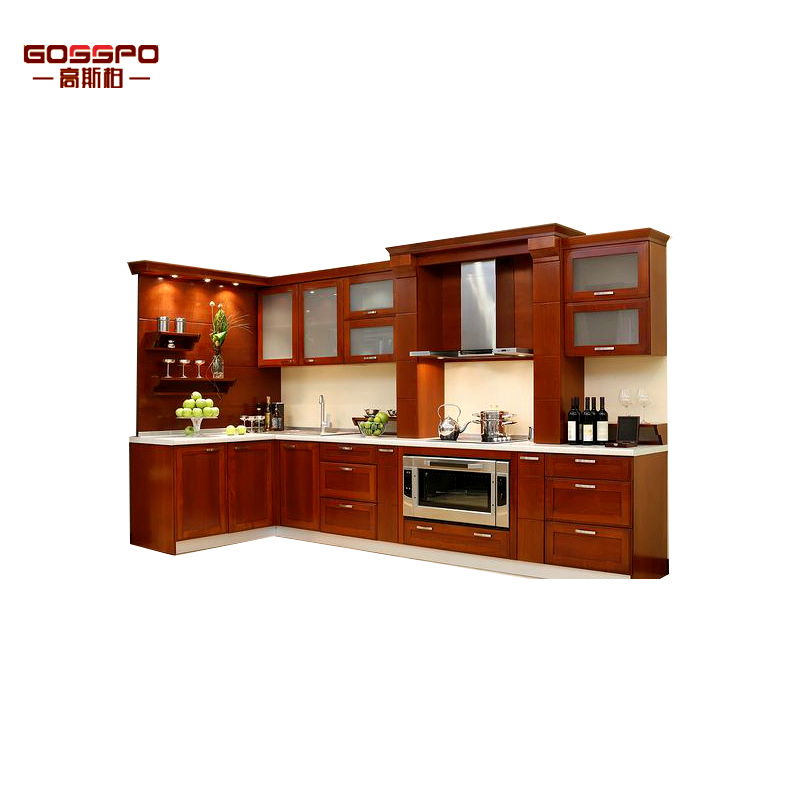 Custom Royal Style Luxury Kitchen Furniture Solid Wood Kitchen Cabinets
