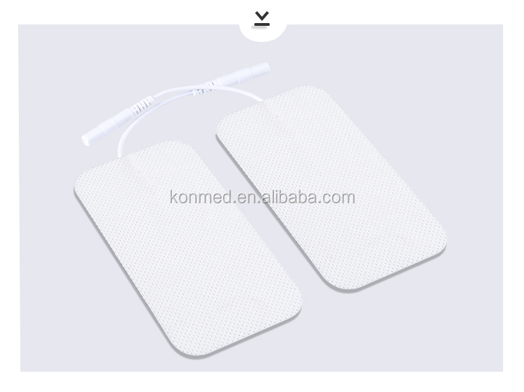 Medical Supplies 5cm*10cm Large Rectangle Patches With Pigtail Wire TENS Unit EMS Stimulator Replacement Sticky Electrode Pads