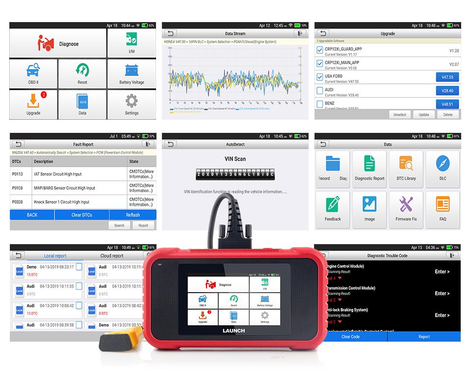 LANÇAMENTO X431 CRP129E 2 OBD Scanner ENG/AT/ABS/SRS Multi-língua Atualização Gratuita de Diagnóstico Auto ferramentas CRP129E