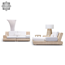 Outdoor Patio Chaise Lounge-Set Pool Sun Daybed Liege Wicker Liegestuhl Rattan Chaise Lounge