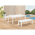 outdoor furniture garden hotel public use long chair bench and table outdoor use