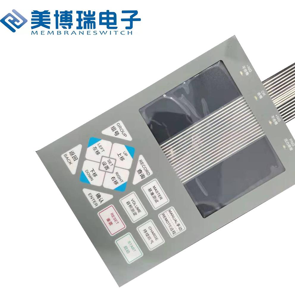 Press Membrane keypad Graphic Overlays Faceplates