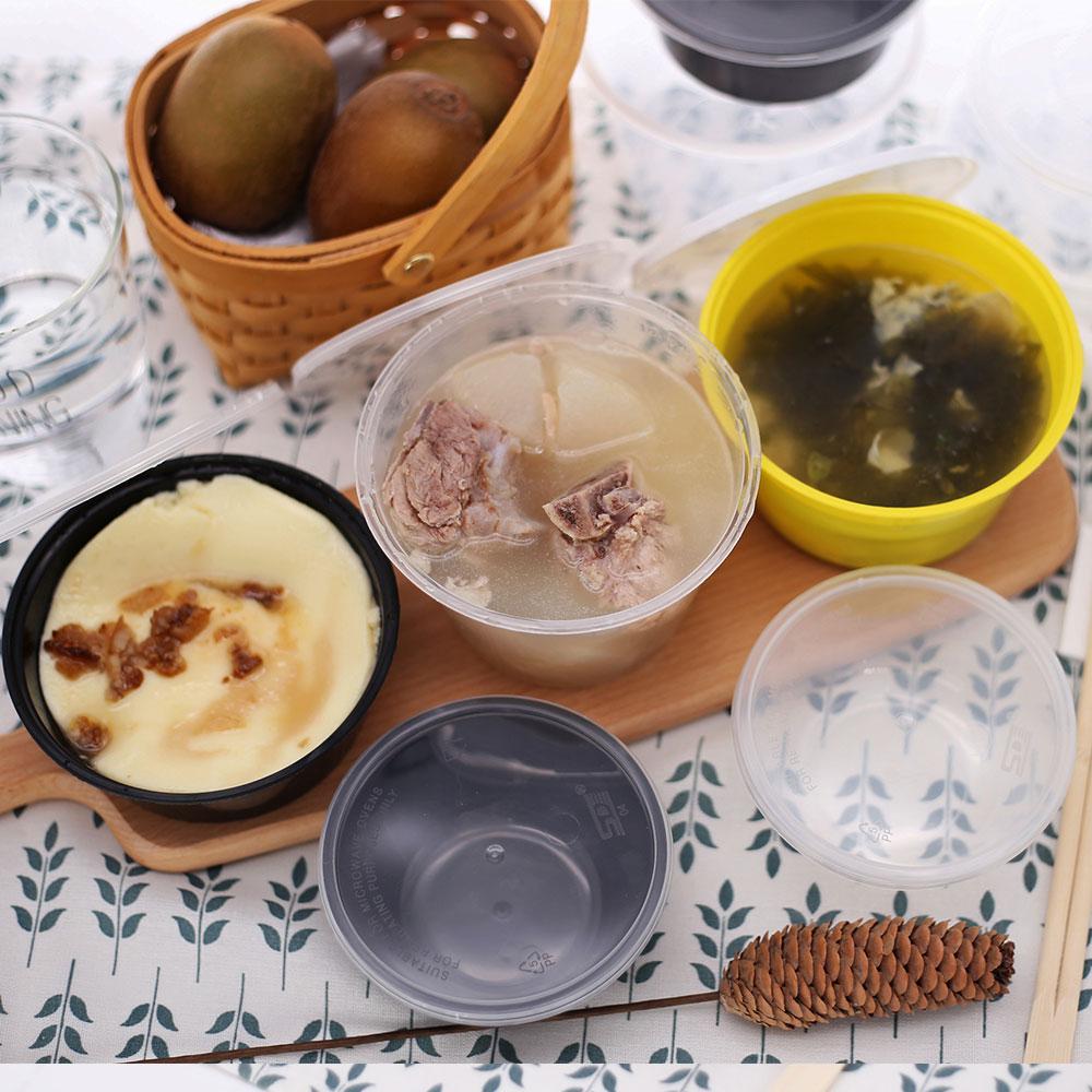 Dispaoble pp food grade kunststoff suppe behälter mit deckel für fast-food-restaurant carryout