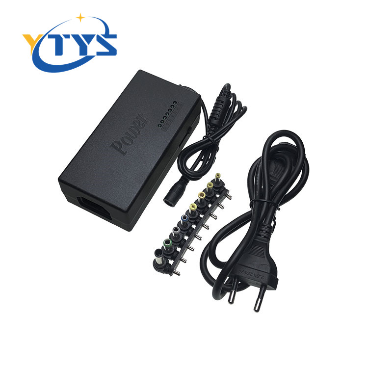 96w universal adapter 12v-24v laptop charger ac power supply with EU/UK/US/AU ac cable