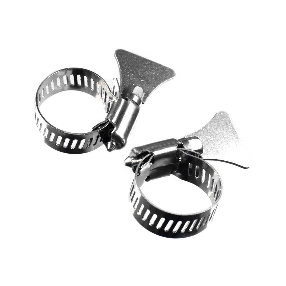 Stainless Steel American Type installs american worm type clamp with steel handle pipe clamp