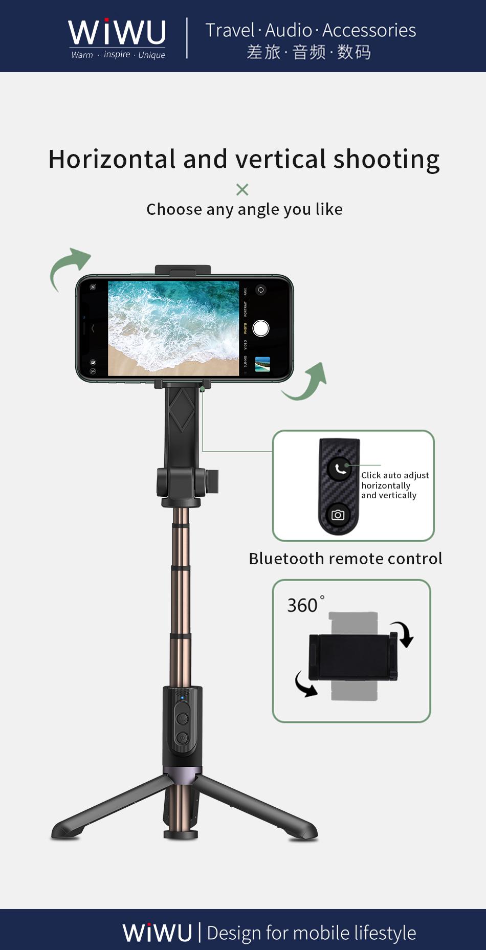WIWU 手机自拍杆带蓝牙遥控 (https://www.wiwu.net.cn/) 手机支架 第1张