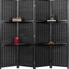 Black Bamboo folding water proof natural color room divider