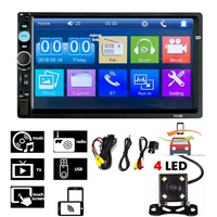 top selling multimedia bluetooth 7 inch manual univers car radio mp5 player with camera