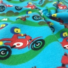 Organic certified 100% organic cotton knitted fabric customized print