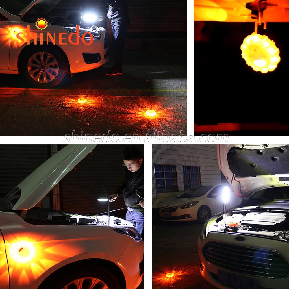 Горячая Распродажа придорожной аварийной безопасности СВЕТОДИОДНОЙ Вспышкой Предупреждение Магнитный Портативный светофор с 9 режимов strobe для безопасности дорожного движения