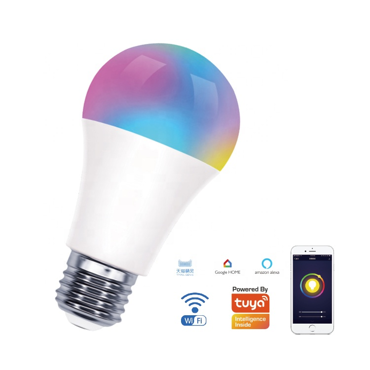 Smart App control smart led light <strong>bulb</strong> wifi google Alexa Google Assistant A60 9W