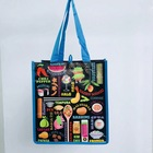 PP laminated non woven reusable pretty quality shopping tote cloth bag