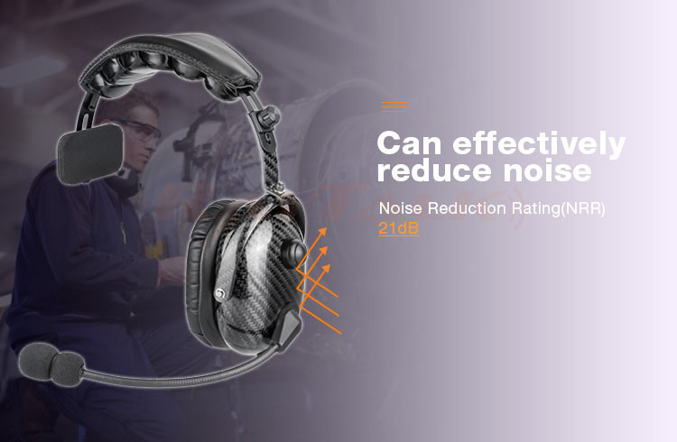 Ultra Light Carbon Fiber Heavy Duty Single sided headset Noise Cancelling 2 Way Radio Headset