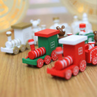 4 knots Christmas train painted wooden Christmas ornaments decorations for home tree Xmas decor gifts for new year