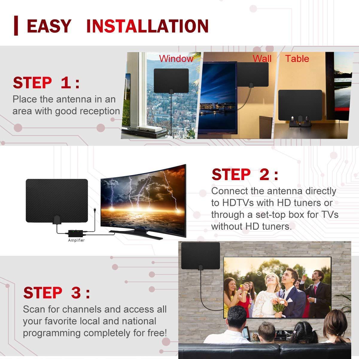 Wholesale 360 degree rotation omnidirectional telescopic 1080P hd digital indoor multi-band hf vhf uhf tv antenna