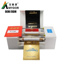 Amydor 360C Automatic digital gold foil printer printing machine / hot foil stamping machine for wedding invitation card AMD360C