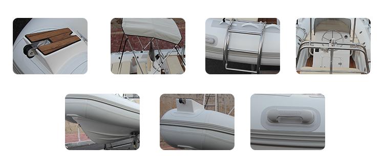 RIB 480 Deep V Hypalon RIB Inflatable Rigid Boat with Outboard Engine