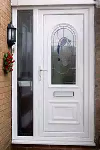 Hot sale upvc office door glaze fully external with cheap price