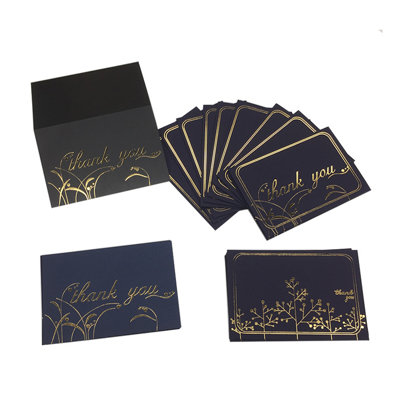 4x6 Gold Foil 300 gsm Cardstock Paper <strong>Card</strong> Blue Black Thank You <strong>Cards</strong> With Envelope
