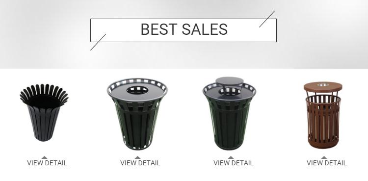 ホット販売現代デザイン都市ごみ箱リサイクルごみ廃棄物ビン