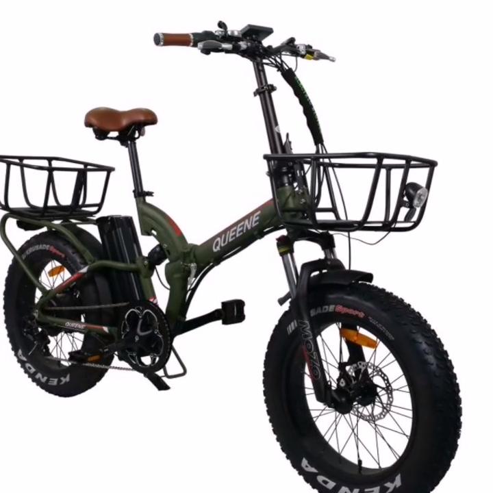 20 inch 48v 13ah lithium battery bike 48v 500w rear motor electric snow sand fat tire speed e-bikes