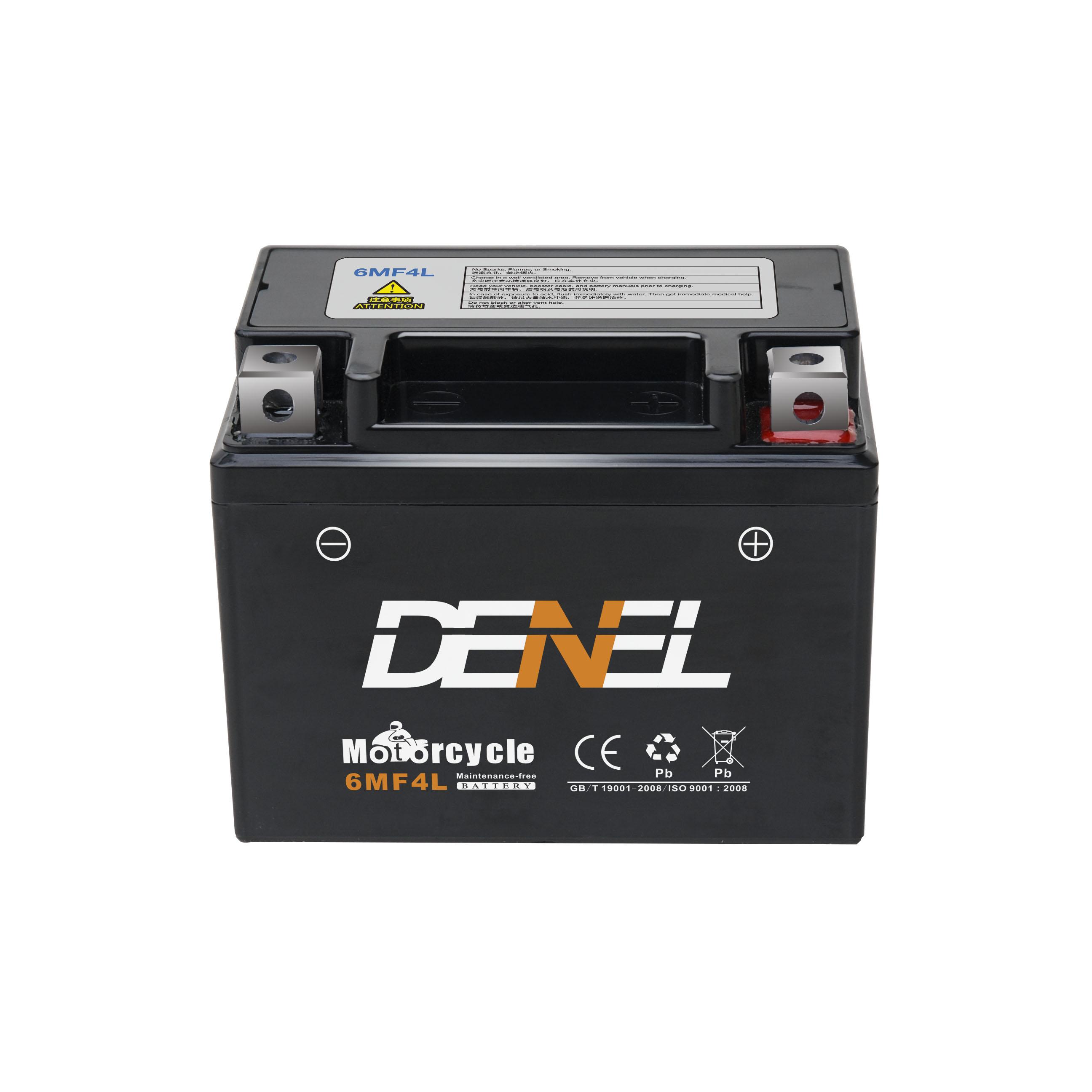 12v 4ah Motorcycle Battery YT4L-BS black color  motorcycle battery