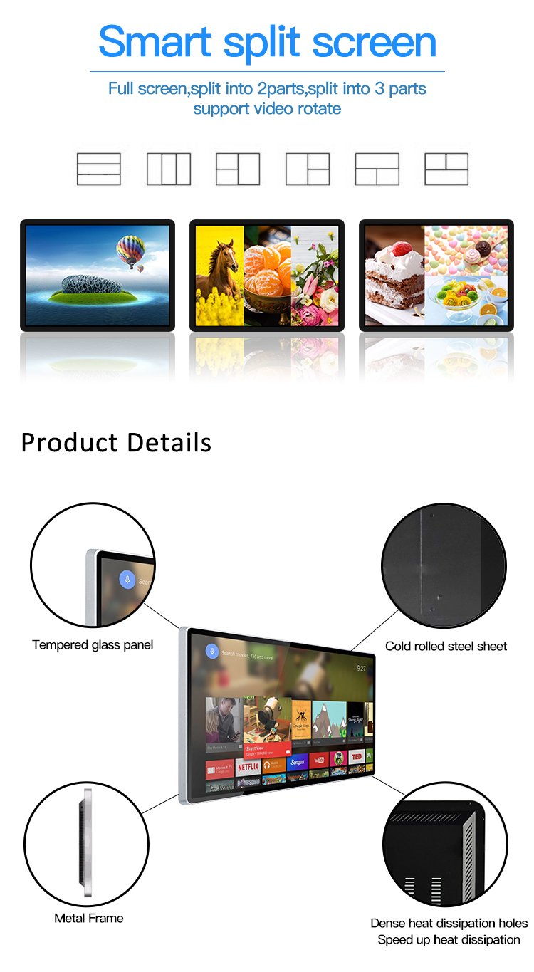 Lcd Tablet Writing Wall Mounted Advertising Display 43 Inch Android Touch Screen Kiosk