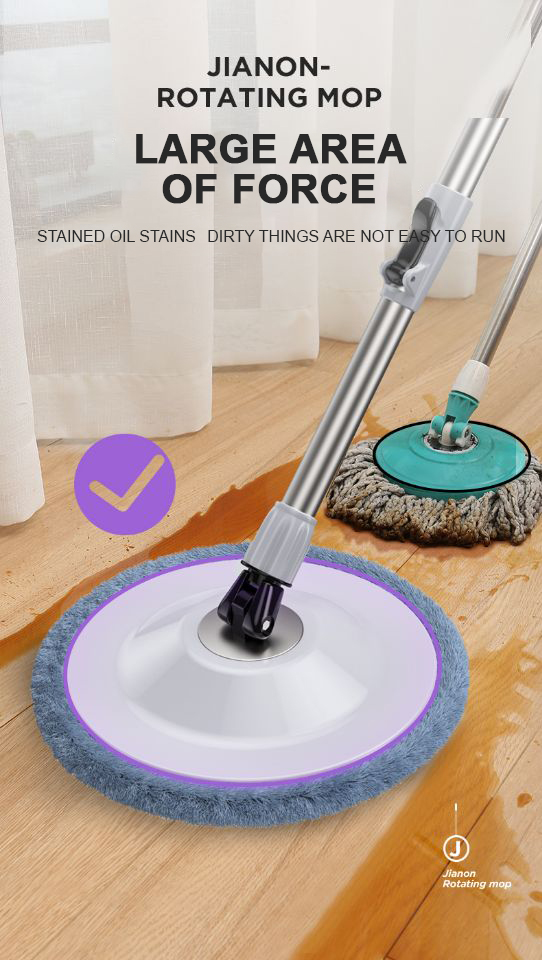 Upgrade fine velvet easy cleaning assemble 360 spin magic mop and bucket set,360 mop
