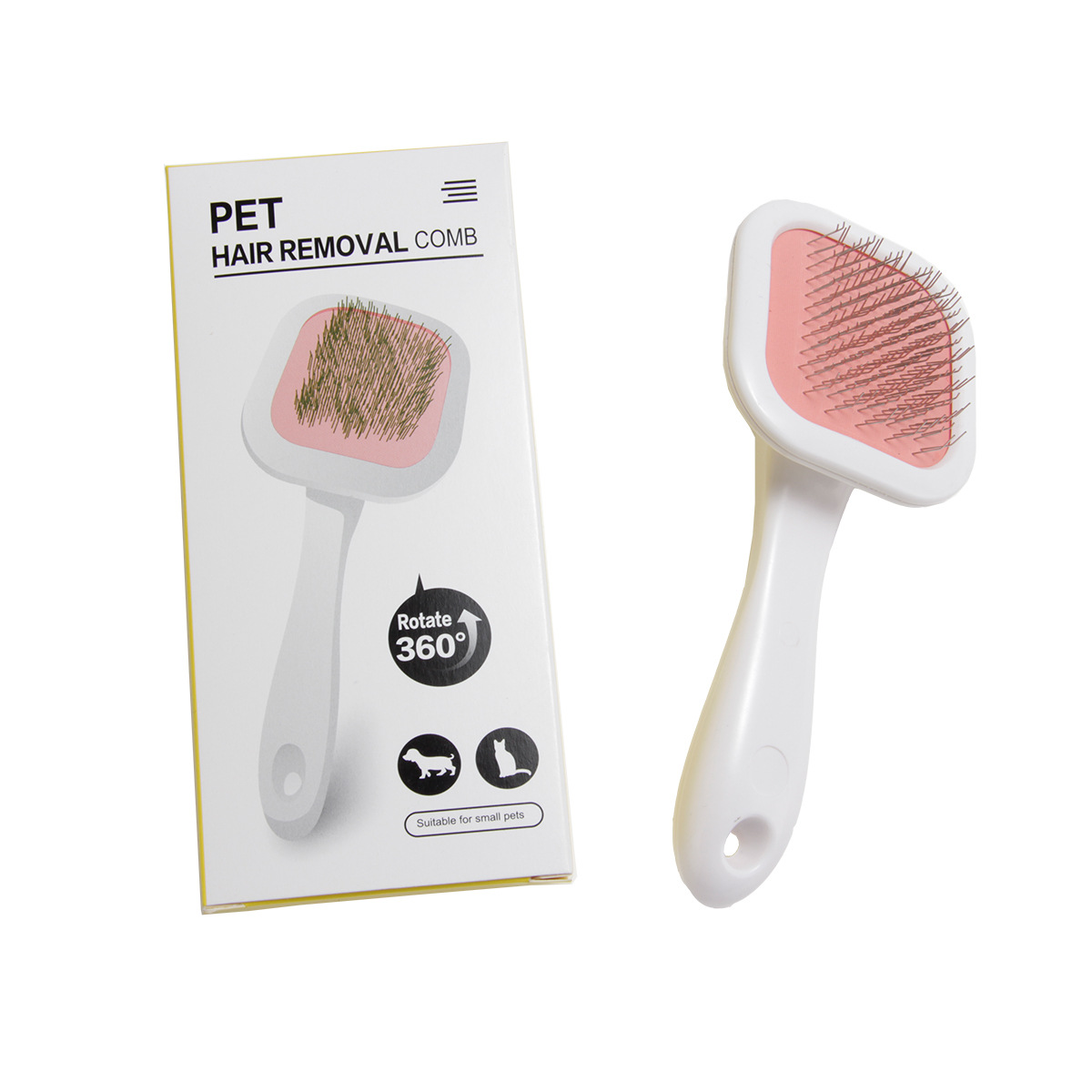 Multi Purpose Steel Needle Brush 360 Degree Rotatable Rake Grooming Tool Hair Removal Comb For Pets Dogs Cats