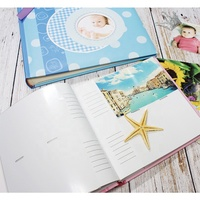 Slip in Baby Case Book Bound Photo Album Holds 100 Photos 6'' X 4''/ 10X15 Cm, Album Foto Factory