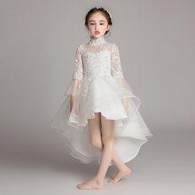 Белые Платья с цветочным узором для девочек; Yiiya B049; Платье для причастия с длинными рукавами для свадьбы; vestidos de noches para ninas(China)