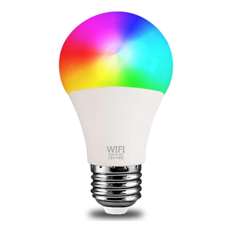 5W 9W 15W WiFi Smart Light Bulb B22 E27 RGB Lamp Work with Alexa/Google Home RGB+White Dimmable Timer Function Magic Bulb