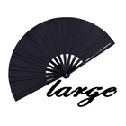 Chinese Bamboo Hand Fan Fanbamboo Chinese Bamboo Hand Fan Black Large Rave Folding Chinese Japanese Bamboo Large Hand Fan Amazon For Festival Dance Gift Performance Decorations
