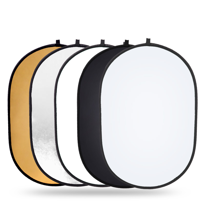 Travor Portable 60x90cm Oval photo studio light reflector photography collapsible Reflector for Outdoor photography