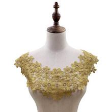 38 цветов, Высококачественная кружевная ткань, вышитая аппликация, вырез, сделай сам, разноцветные ажурные платья, одежда, кружевной воротни...(Китай)