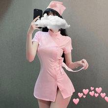 Ультракороткий костюм медсестры в стиле Харадзюку, панк, сексуальное нижнее белье для женщин, юбка с разрезом, домашняя одежда для сна, косп...(Китай)