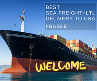 FBABEE Sea Freight Forwarder LCL/LTL/FCL Pallets Container Shipping From China to USA Amazon Warehouse