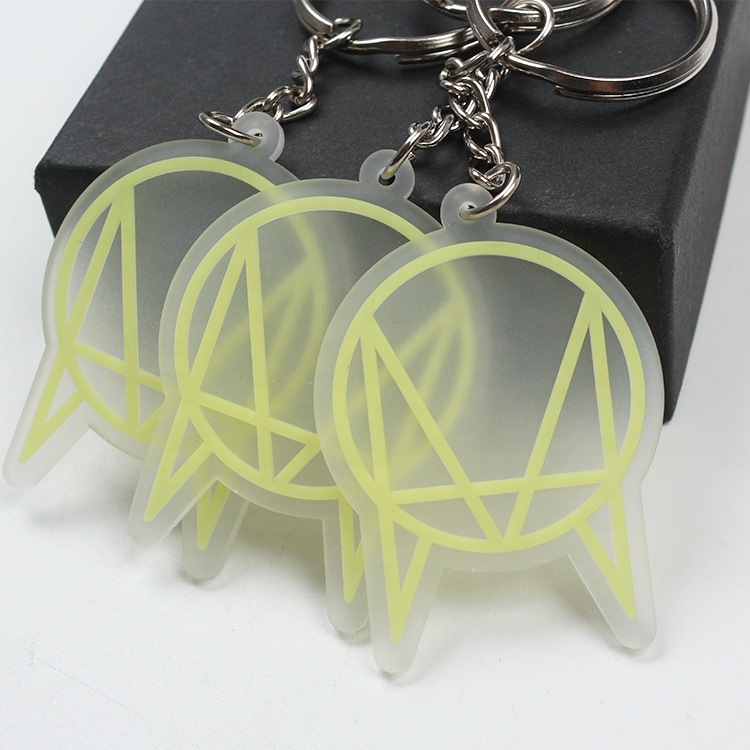 Personalized Custom 3D Luminous Logo PVC Rubber Keychains for Gifts