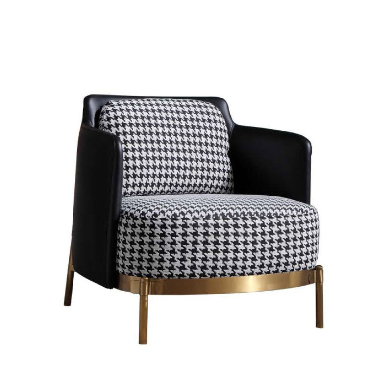 nordic designer chair luxury Mdeern Leisure Chair single sofa chair Upscale Leather and fabric chairs