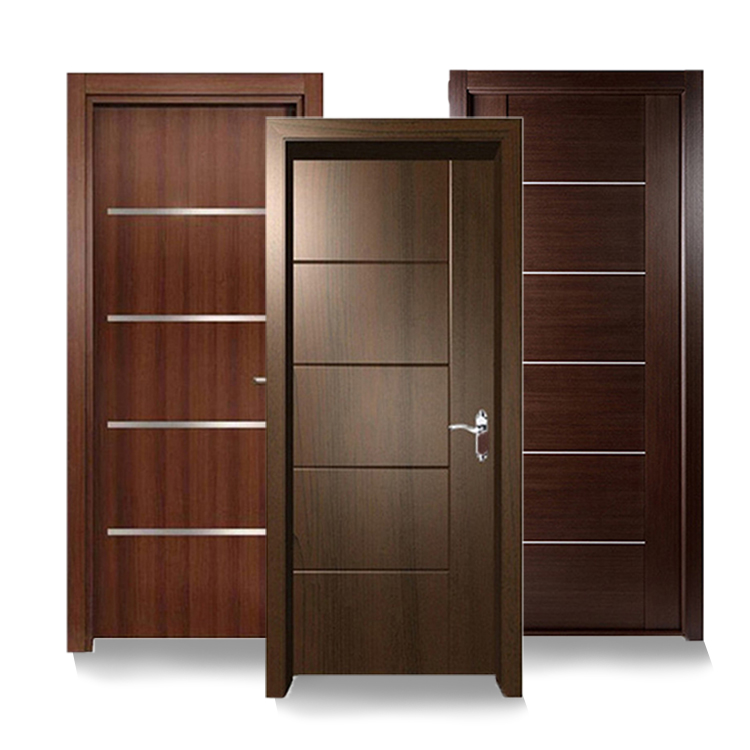 Walnut Modern latest design wooden melamine hotel <strong>door</strong> interior room <strong>door</strong>