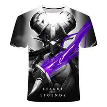 "Новинка 2020, футболка в темном стиле с 3d league of legends, yasuo jarvan iv, с надписью ""Twisted Fate"", мужская и женская спортивная одежда, футболка lol(Китай)"